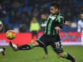 Floccari en un partido con el Sassuolo. Twitter