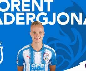 Florent Hadergjona, nouvelle recrue de Huddersfield Town. HuddersfieldTown