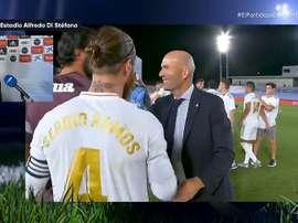 Florentino fala sobre Sergio Ramos. Captura/Movistar+