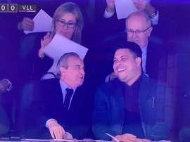 Ronaldo et Florentino ont passé un bon moment. Capture/beINSports
