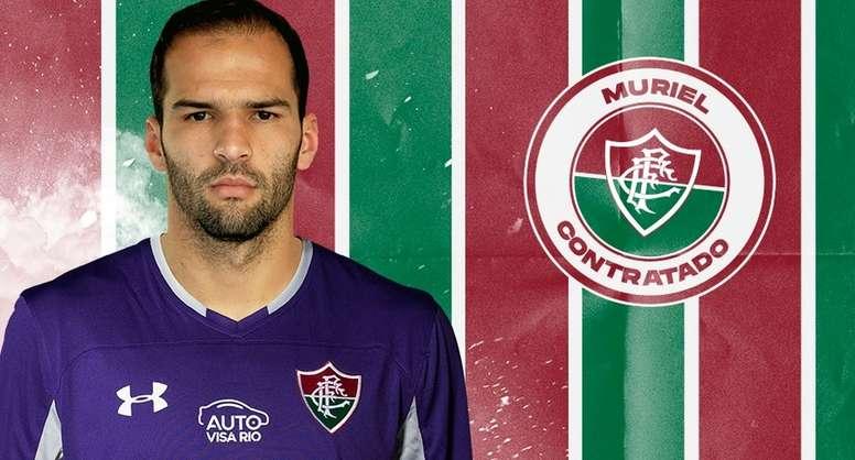 Muriel firma por tres años y medio. Fluminense
