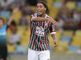 Fluminense gesticula en un encuentro del Fluminense. Twitter