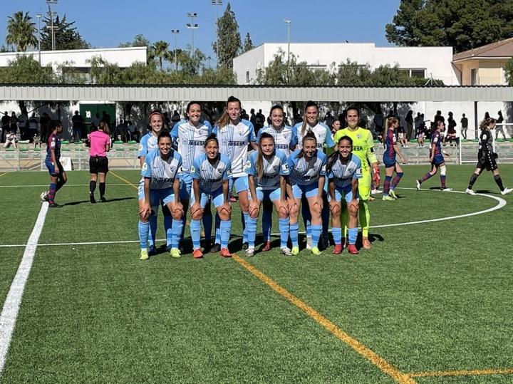 El Málaga Femenino no pudo con el Levante B. Twitter/MalagaCFemenino