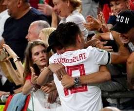 Szoboszlai e sua possível indireta ao Real Madrid no Instagram. AFP