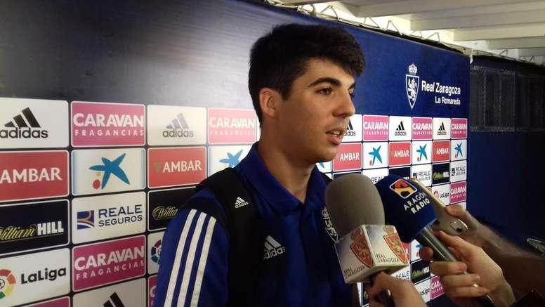 Enrique Clemente concedió una entrevista en los canales del club. Twitter/RealZaragoza