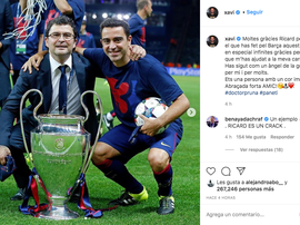 Xavi says goodbye. Screenshot/Instagram/xavi