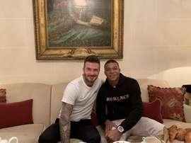 Les deux stars du football.  Twitter/KMbappe