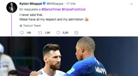 Leo Messi y Kylian Mbappé. AFP/Twitter