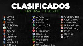 Estos son los 32 clasificados para los dieciseisavos de final de la Europa League. BeSoccer