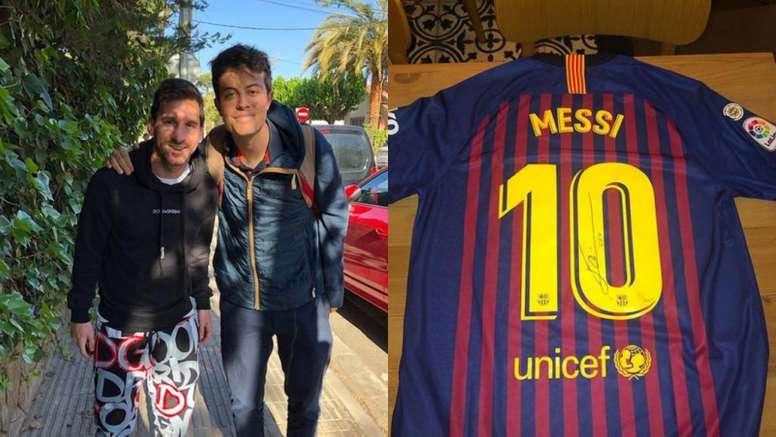 La carta viral que muestra el lado más humano de Messi. Instagram/santialberione