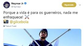 Neymar se motive sur les réseaux sociaux. Twitter/NeymarJr