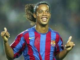 Makelelé a Ronaldinho. AFP