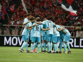 El conjunto japonés notó la ausencia de Iniesta. Visselkobe