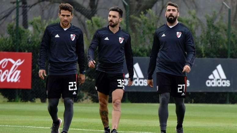 Pratto y Scocco ya tocan balón y apuntan a la Libertadores. Twitter/RiverPlate