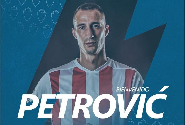 Petrovic jugará las próximas dos temporadas en el Zaragoza. Twitter/RealZaragoza