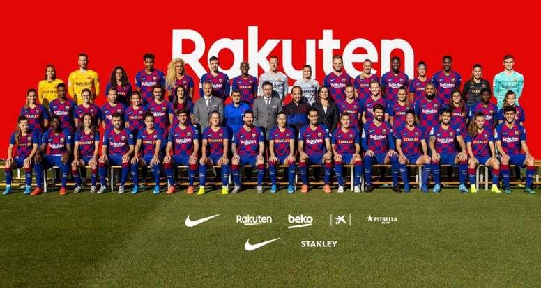 La photo officielle du Barça 2019-20. FCBarcelone