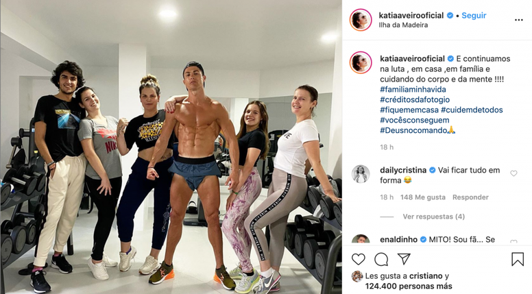 Katia spoke positively of her brother Cristiano during the lockdown. Instagram/katiaaveirooficial