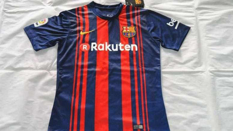 f993dd4b5 Pin Fotografía de la nueva camiseta del Barcelona. Twitter NewsFCB