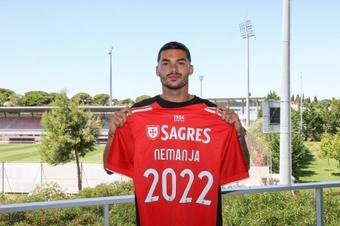 Radonjic, prêté à Benfica. Twitter/SLBenfica