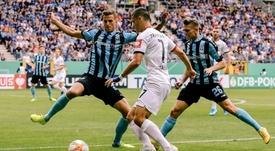 Al Eintracht le costó arrancar. Twitter/Eintracht