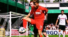 El Augsburg tuvo problemas para trabajar. Twitter/FCAugsburg