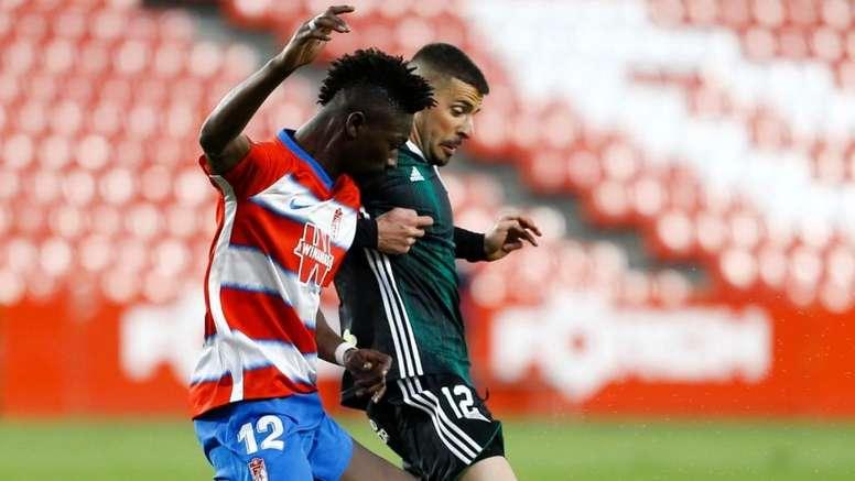 Aplazan el Recreativo Granada-Sevilla Atlético por casos de coronavirus. Twitter/CanteraNazari