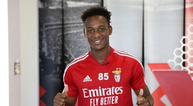 O jovem de 19 anos do Benfica que está dando o que falar. EFE/SL Benfica