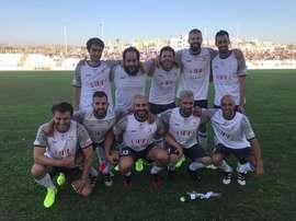 Piqué, Busquets y Alba dieron el toque azulgrana. Twitter/3gerardpique