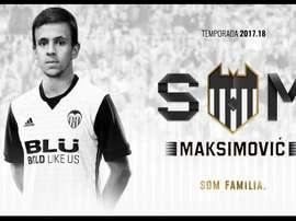 Maksimovic arrive à Valence et signe pour cinq ans. ValenciaCF