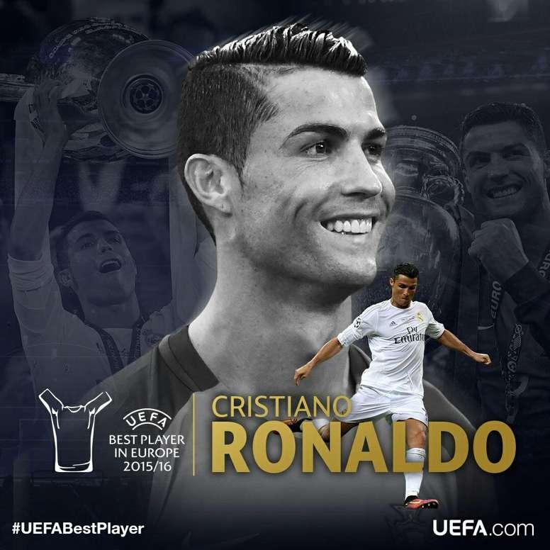 Pin Cristiano Ronaldo élu meilleur joueur d europe en 15-16. Champions  League 5fc4da3f40867