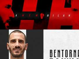 Higuain and Caldara are now Milan players, with Bonucci returning to Juve. ACMilan/Juventus