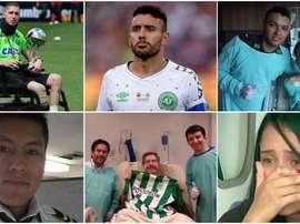 Sólo tres de los supervivientes eran jugadores del equipo. AFP