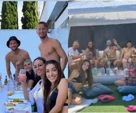 Riunione illegale tra i giocatori del Siviglia. Instagram/IvannaBanega