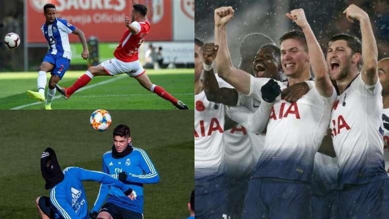 Foyth, Valverde y MIlitao, tres de los jugadores sub 21 que podrían destacar. AFP/EFE