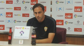 El entrenador del Almería se mostró satisfecho por la temporada de su equipo. UDAlmeria