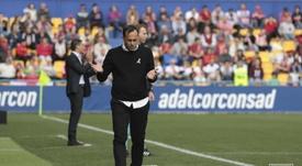 Fran Fernández, contento pero enfadado. Instagram/AD_Alcorcón
