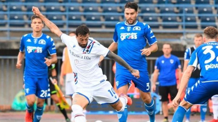 Caputo hizo dos goles a su ex equipo, el Empoli. EFE