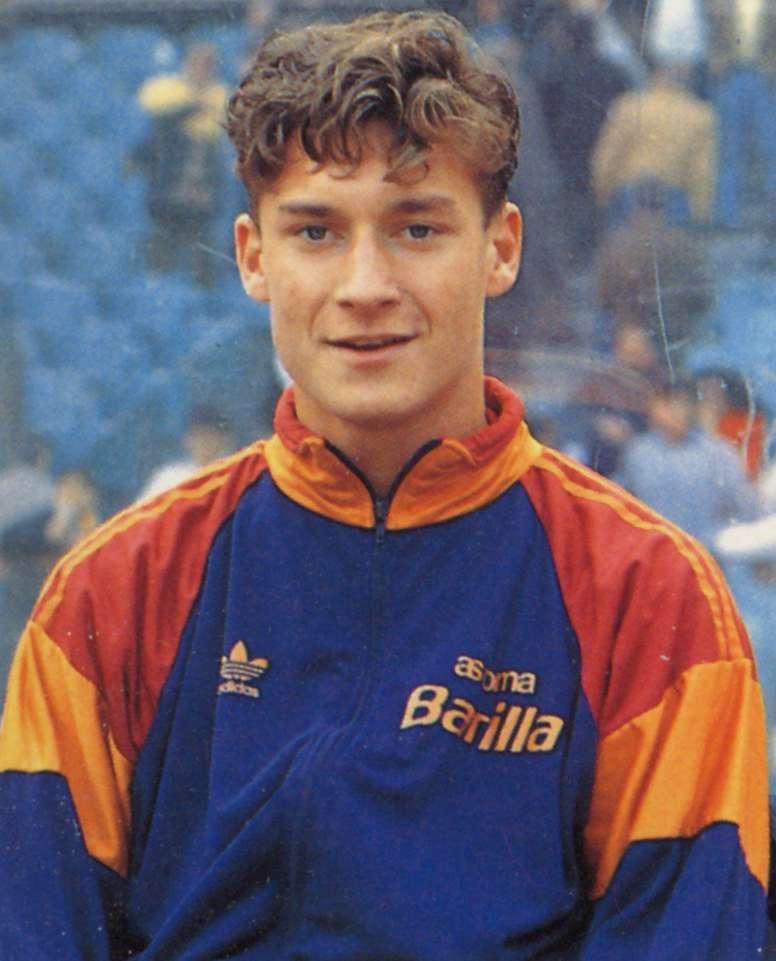 Totti made his debut 25 years ago. FrancescoTotti