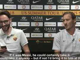 Totti shared his opinion of how highly he rates Lionel Messi. ASRoma
