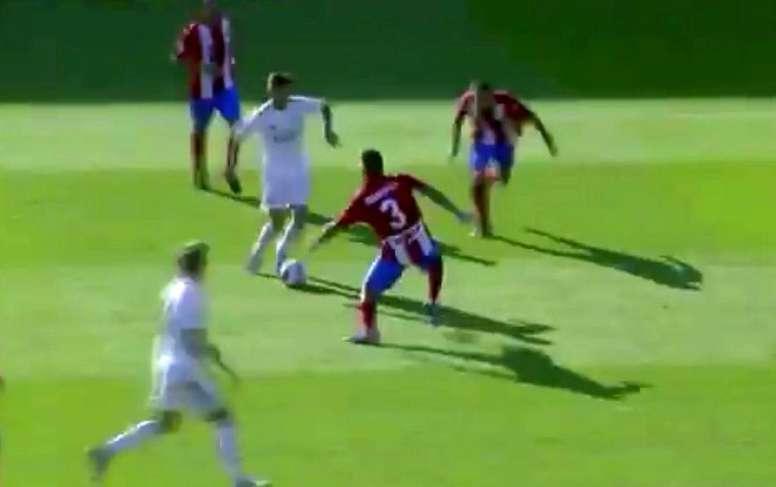 El argentino abrió el marcador con un golazo. Captura/RealMadridTV