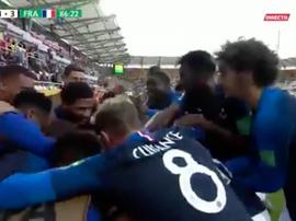 Francia logra el pleno ante una combativa Mali. Captura/GOL