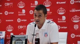Francisco habló del Lorca en rueda de prensa. CDeportivoLugo