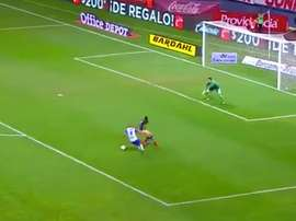 Golazo del jugador de Pachuca. Twitter/LigaBancomerMX