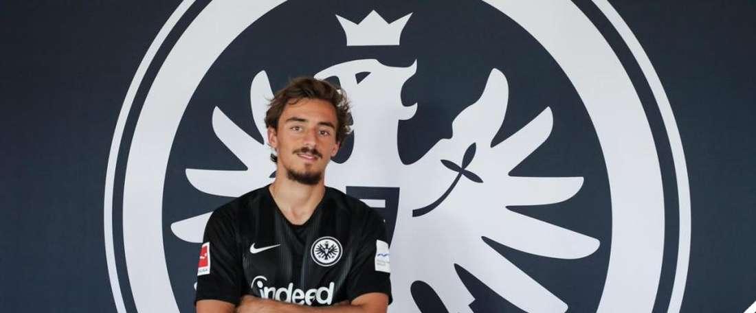 Geraldes ne joue pas à Francfort. Twitter/Eintracht