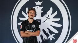 Llega cedido del Sporting de Portugal. Twitter/Eintracht