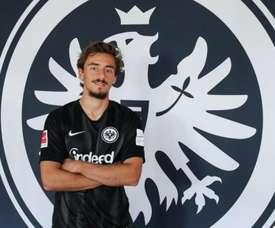 Geraldes no está jugando en el Eintracht. Twitter/Eintracht