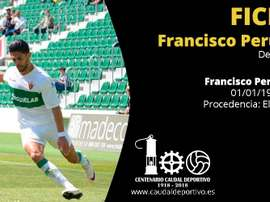 Francisco Perujo ya es nuevo jugador de Caudal Deportivo. CaudaldeMieres