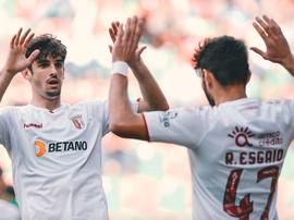 Trincao marque un beau but avec Braga. SCBragaOficial