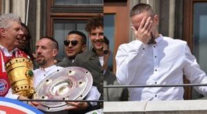 Ribéry n'a pu contenir ses larmes lors de ses adieux. Twitter/FranckRibéry