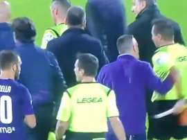 Serie A punish Ribery for shoving a referee. Captura/beINSports